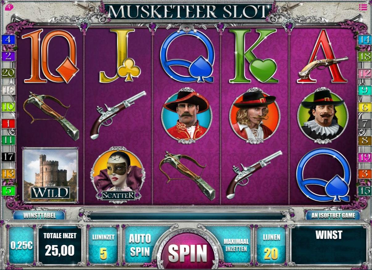 Musketeer slot casino777.be