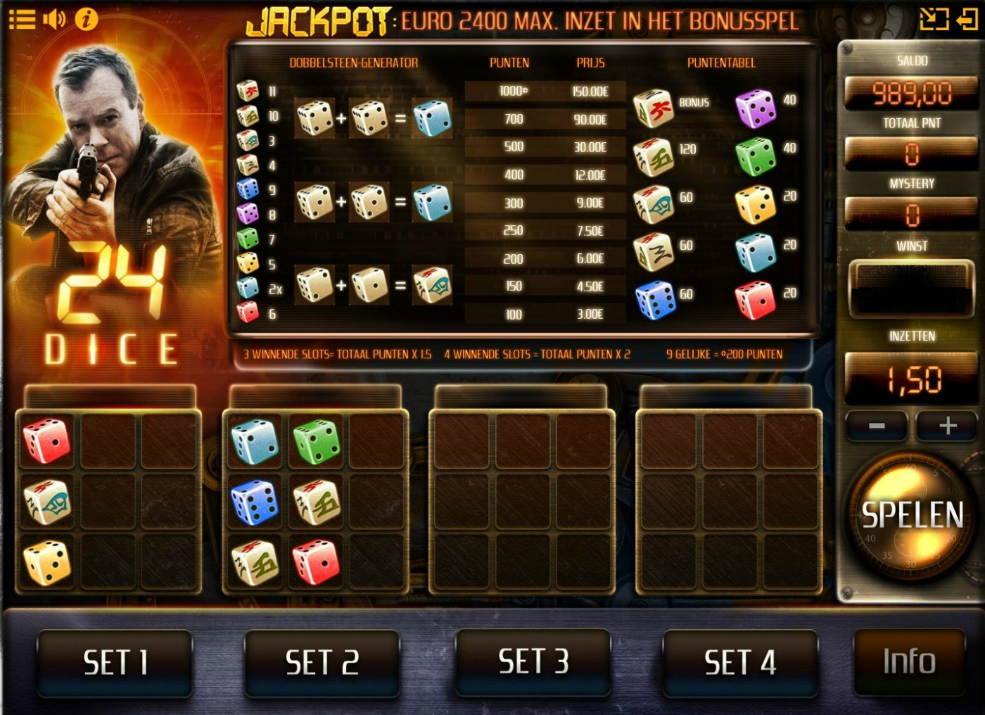 24 dice game IsoftBet