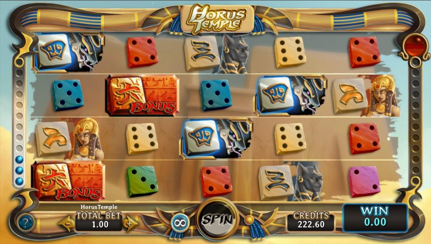 Horus Temple dice slot Carousel.be