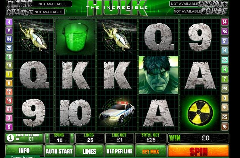 the incredible hulk videoslot